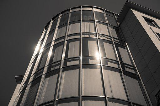 Facade, Glass, Metal, Light, Building, Architecture