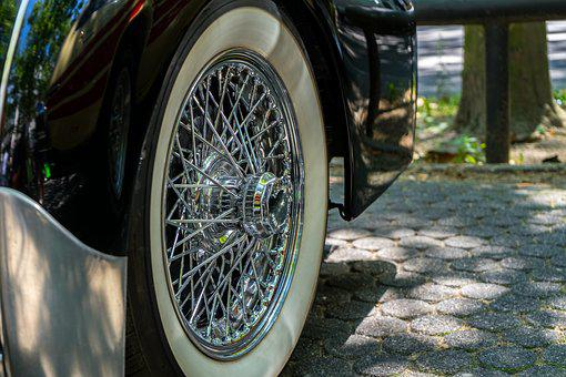 Wheel, Mature, Rim, Spoke Wheels, Auto, Oldtimer, Gloss
