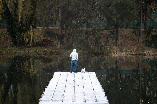 Person, Contemplation, Back, Reflection, Outdoors