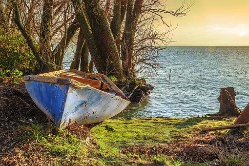 Boat, Part, Lake Balaton, Ship, Nature, Landscape
