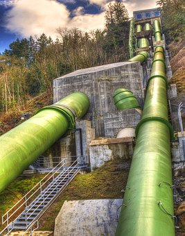 Power Plant Feed Pipes, Dam, Electrical, Power
