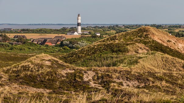 Kampen, Sylt, Red Cliff, North Sea, Island, Dunes