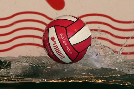 Water Polo, Sport, Ball, Red, White, Water, Water Balls