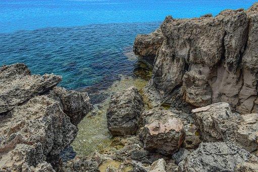 Rock, Rocky Coast, Landscape, Sea, Blue, Nature