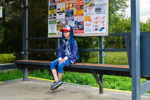 Stop, Waiting For The Bus, Baseball Cap, Russia, Moscow