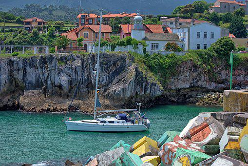 Port, Spring, Boat, Browse, Sailing Boat, Asturias