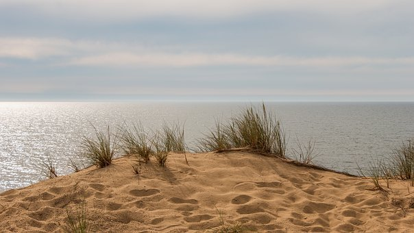 Beach, Dunes, Sylt, Island, North Sea, Blue, Sand, Sea