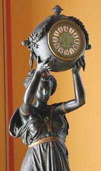 Sculpture, Antique Clock, Art Deco, Exhibition, Museum