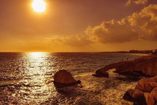 Sunset, Water, Dusk, Sea, Seashore, Seascape, Evening