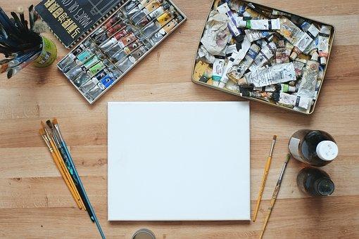 Blank, Canvas, Studio, Set, White, Empty, Mock