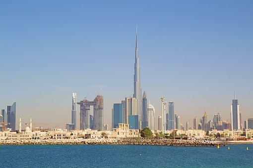 Dubai, Skyline, Skyscraper, Skyline Of Dubai