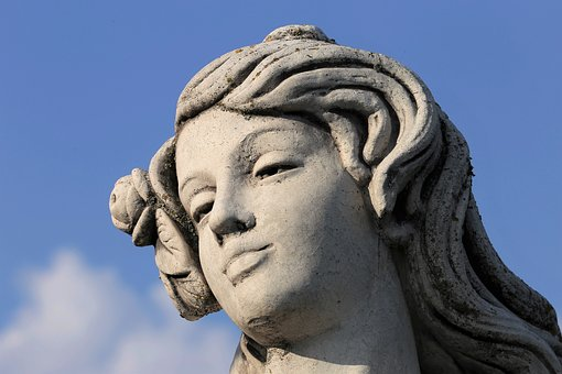 Woman Statue, Head, Sculpture, Stone, Monument, Human