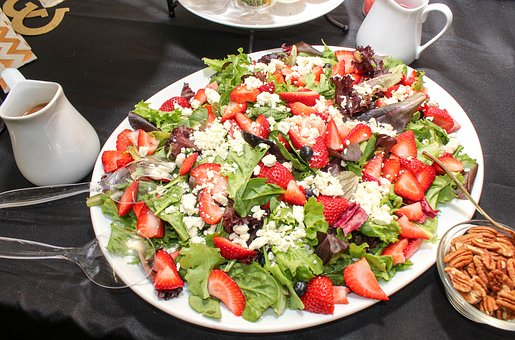 Salad, Strawberry, Cheese, Lettuce