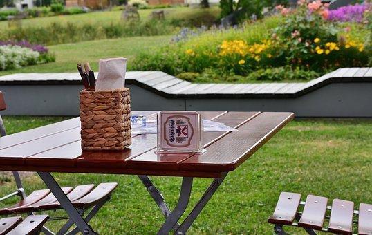 Beer Garden, Table, Chairs, Gastronomy, Seat, Summer