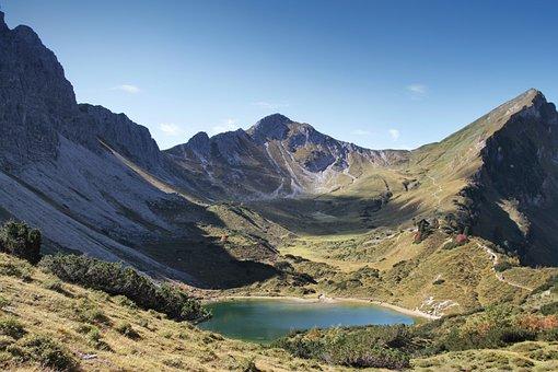 Tannheimertal, Bergsee, Mountains, Water, Nature, Lake