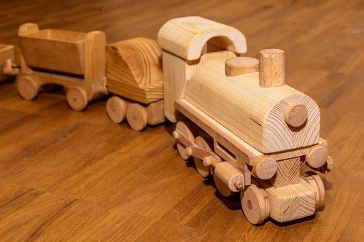 Wooden Railway, Children Toys, Children's Room, Toys