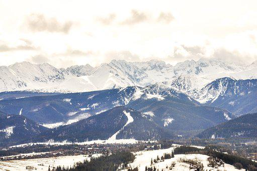 Tatry, Winter, Mountains, Snow