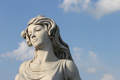 Woman Statue, Sculpture, Stone, Monument, Decoration