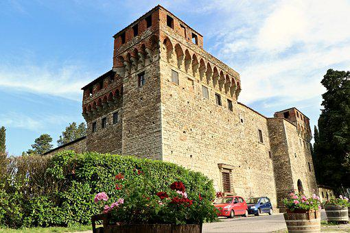 Castle, Architecture, Ancient, Italy, Fortification