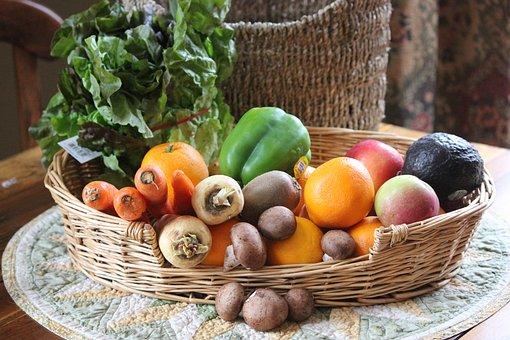 Fruit, Veggies, Basket, Kit, Food, Organic, Healthy