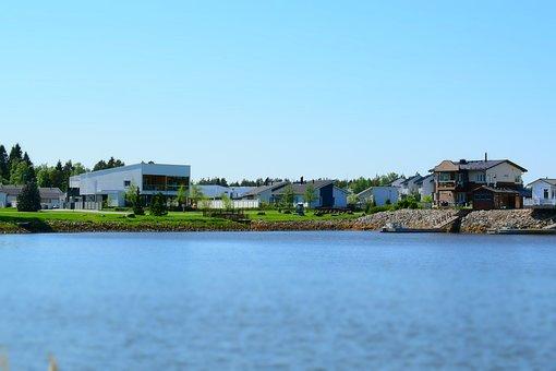 Residential Area, Beach, Houses