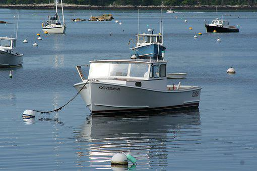 Lobster Boat, Fishing, Boothbay Harbor, Maine, Vacation