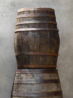 Barrels, Casks, Boots, Wine, Old, Vintage, Crafts