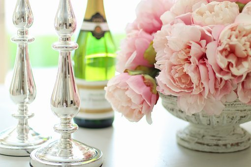 Peonies, Champagne, Peony, Flower, Bouquet, Celebration
