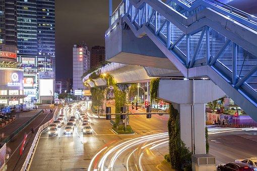 City, Night, Night City, Light, City At Night, Travel