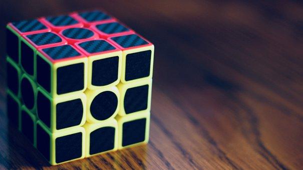 Rubik's Cube, Puzzle, Cube, Game, Color, Vintage
