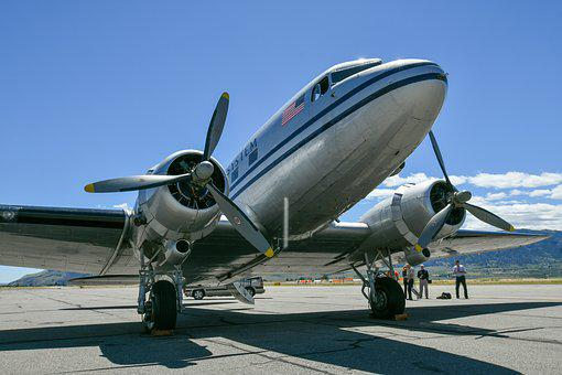 Dc3, Airplane, Vintage, Wenatchee, Wenatchee Valley