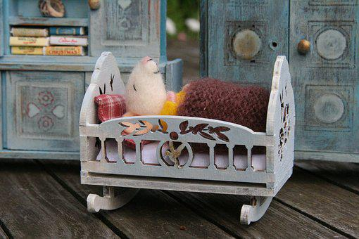 Mouse, Felt, Felt Work, Dolls Houses, Mouse Baby, Toys