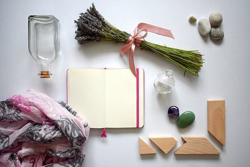 Flat Lay, Summer, Lavender, Bow, Pink Bow, Creative