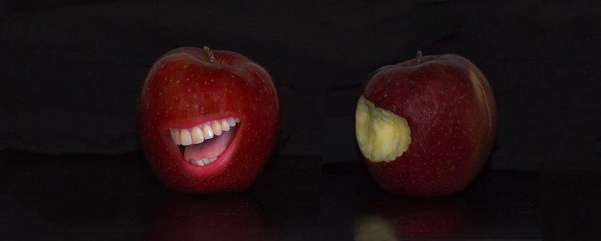 Apple, Red, Teeth, Fruit, Fruits, Healthy, Food, Apples