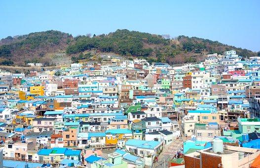 Busan, Gamcheon Culture Village, Korea National