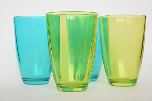 Glasses, Glass, Green, Transparent, Translucent, Drink