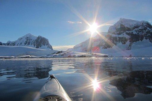 Antarctic, Midnight Sun, Kayak, Polar, Ice, Frozen