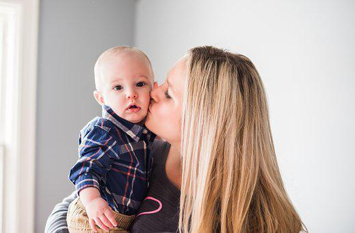 Mom, Love, Kiss, Baby, Parent, Motherhood