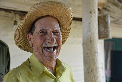 Cuba, Cuban, Laugh, Man, Portrait