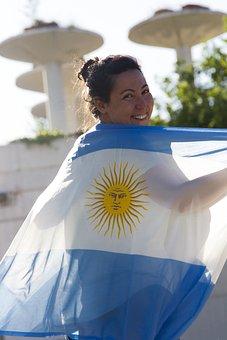 Argentina Flag, Selection Argentina, Mundial2018, Wave