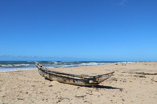 Boat, Ocean, Nature, Sea, Sand, Fishing, Wood, Water