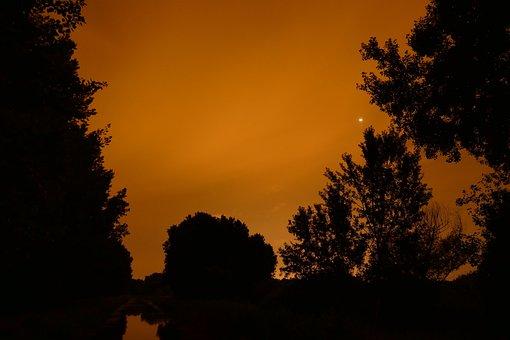 Night, Country, Night Sky, Dark, Observing, Atmosphere