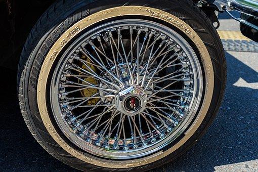 Wheel, Rim, Spoke Wheels, Chrome, Mature, Oldtimer