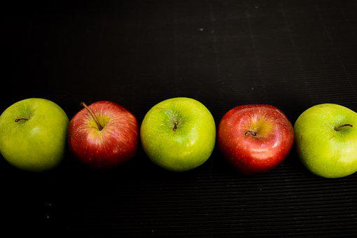 Apple, Healthy, Delicious, Food, Green, Red, Power