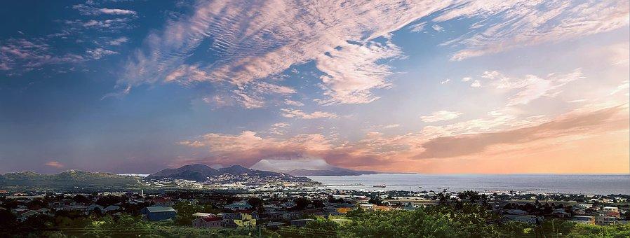 Saint Kitts, St Kitts, Panorama, Caribbean, Island