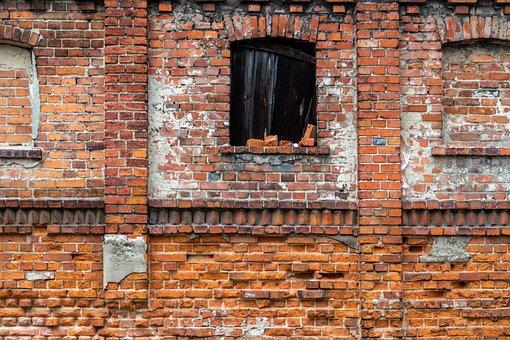 Lake Dusia, Brick, Wall, Texture, Textura, Old Age