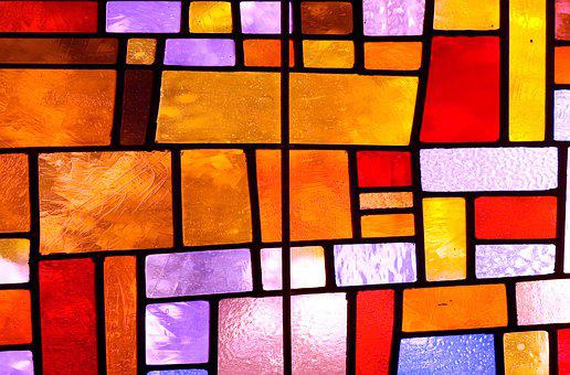 Texture, Stained Glass, Stained Glass Windows, Colorful