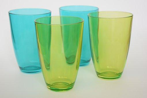 Glasses, Glass, Green, Transparent, Translucent, Drink