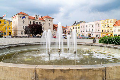 Fountain, Water, City, Rest, Stream Of Water