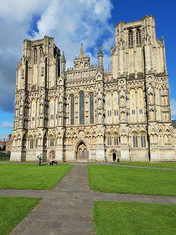Wells, Cathedral, Famous, Tourism, Religion, Gothic